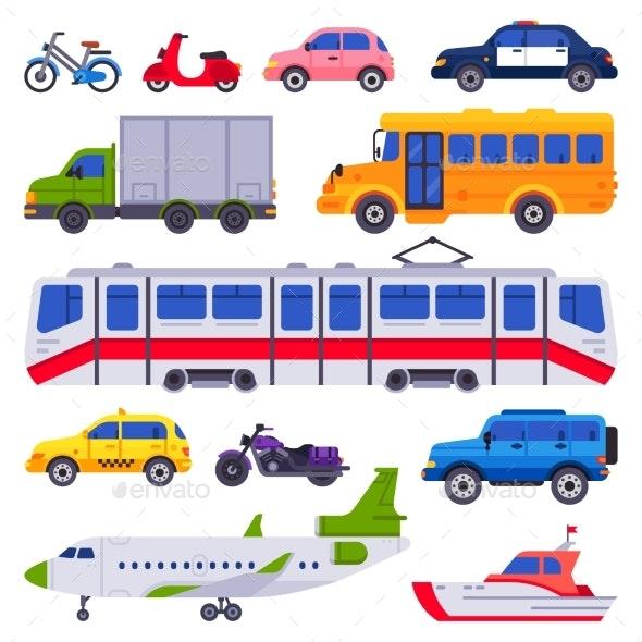 Public Transport - Miscellaneous Vectors