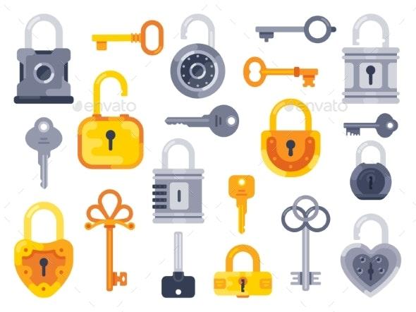 Lock with Keys - Miscellaneous Vectors