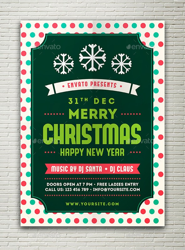 Christmas & Happy New Year Flyer - Events Flyers