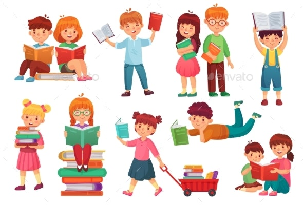Kids Read Book - People Characters