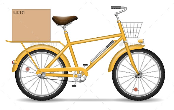 Delivery Bicycle - Man-made Objects Objects