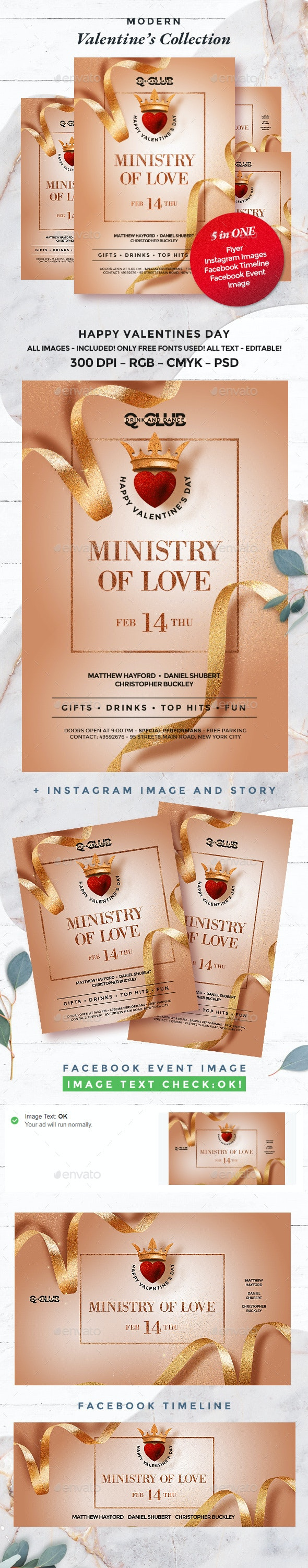 Valentine - Events Flyers