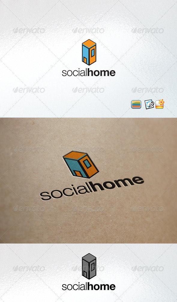 Social Home - Buildings Logo Templates