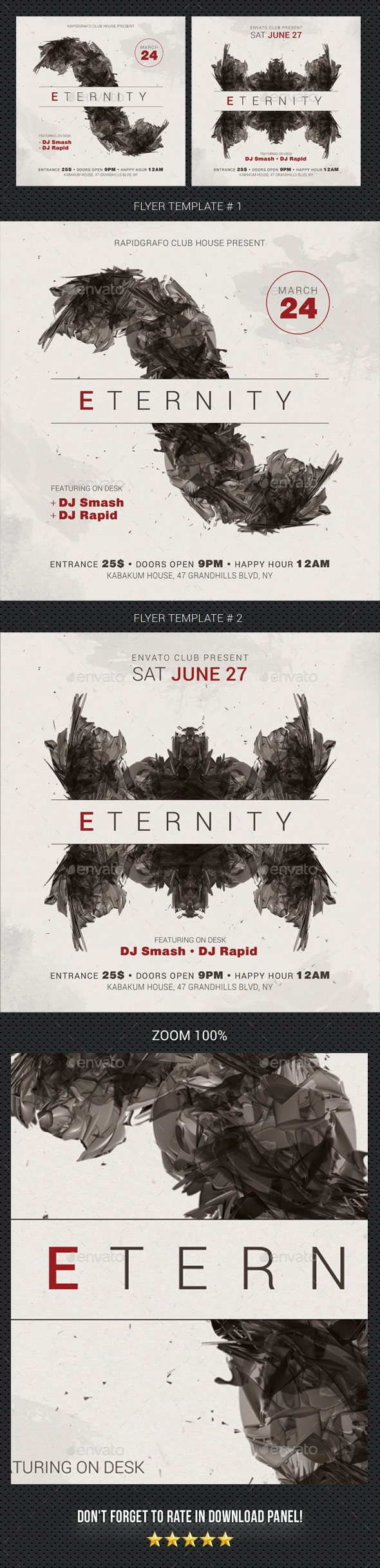 Eternity Flyer - Clubs & Parties Events