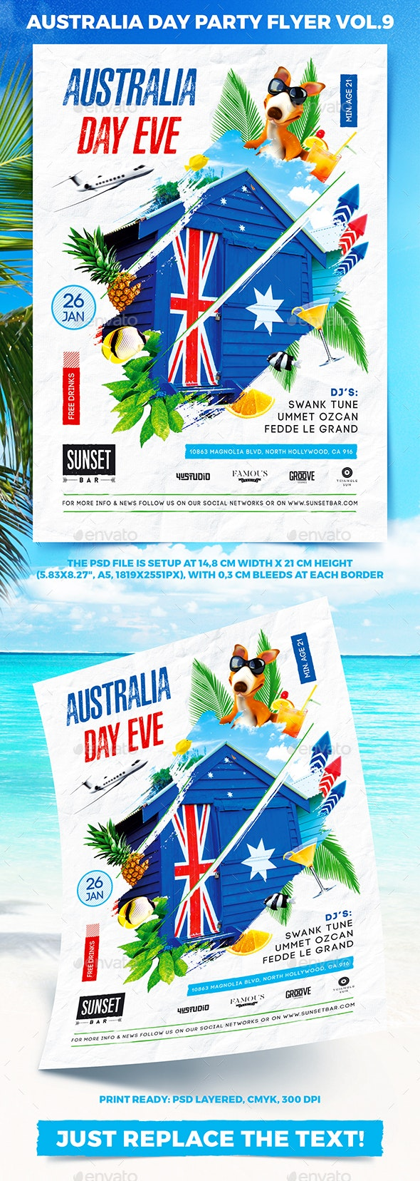 Australia Day Party Flyer vol.9 - Holidays Events