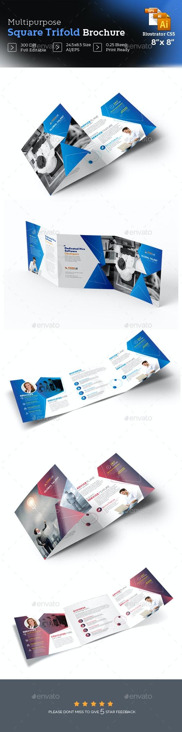 Business Trifold Brochure Design - Brochures Print Templates