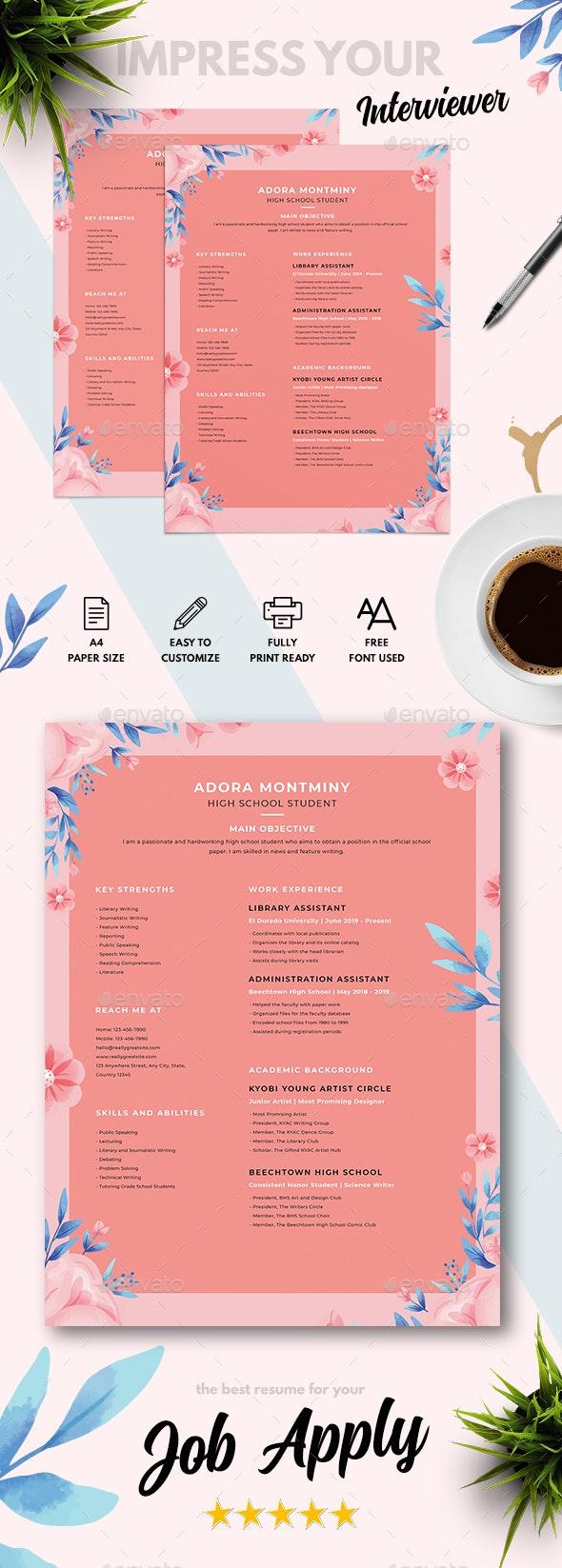 Floral Designer CV - Resumes Stationery