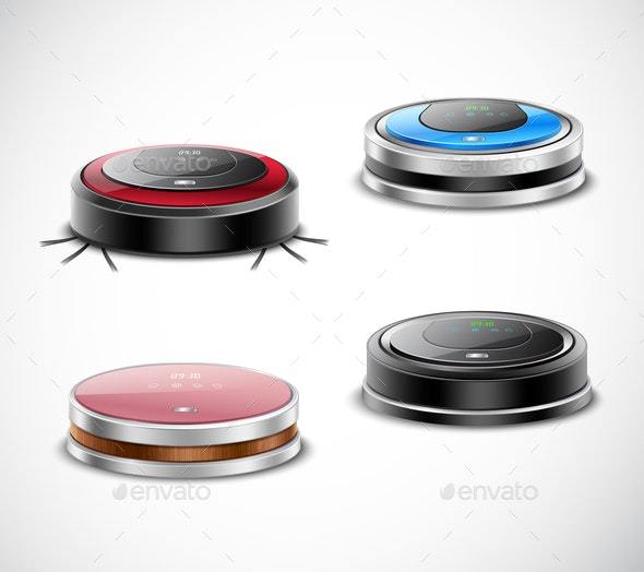 Robotic Vacuum Cleaners Set - Man-made Objects Objects