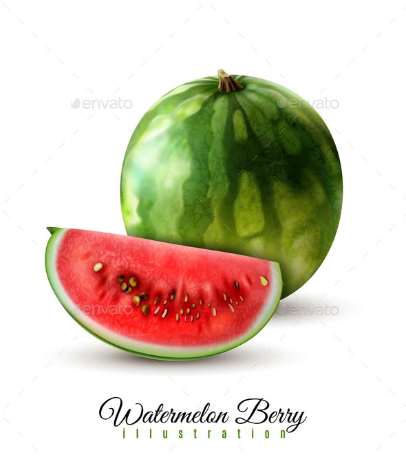 Watermelon Realistic Image - Food Objects