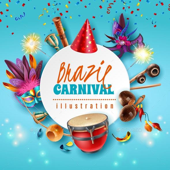 Brazil Carnaval Frame - Miscellaneous Seasons/Holidays