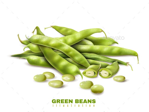 Green Beans Realistic Image - Food Objects