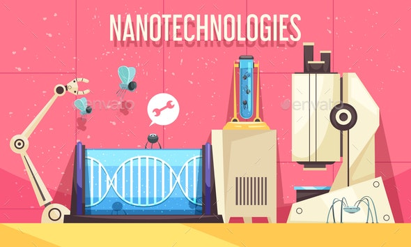 Nanotechnologies Horizontal Illustration - Health/Medicine Conceptual
