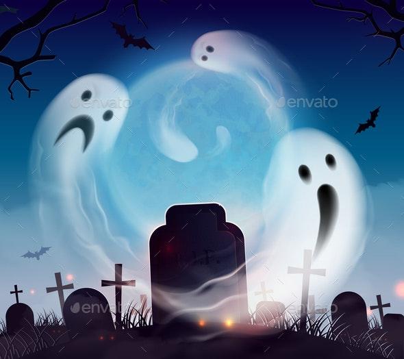 Ghosts Halloween Realistic - Halloween Seasons/Holidays