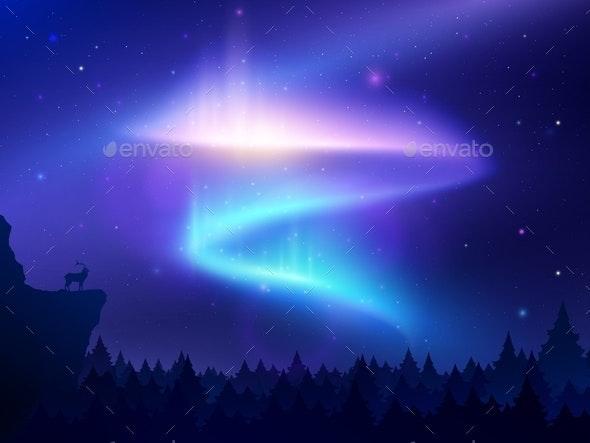 Northern Lights Background - Landscapes Nature