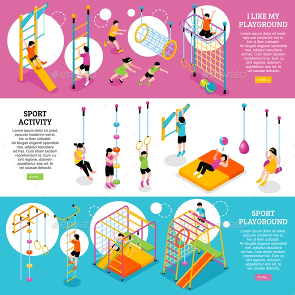 Kids Sports Banners Set - Sports/Activity Conceptual