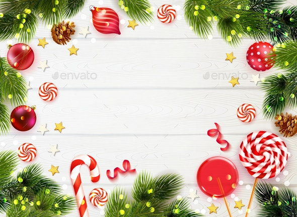Christmas Background Pic.Realistic Christmas Background