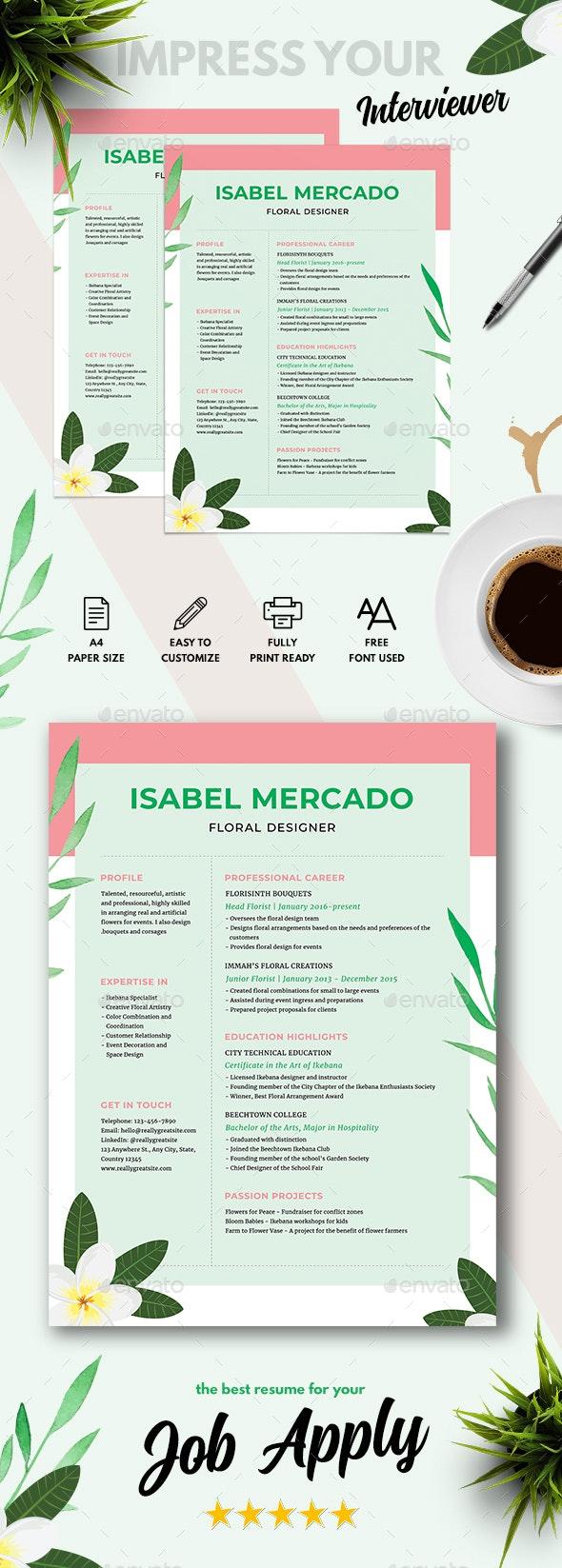 Impressive Designer CV - Resumes Stationery