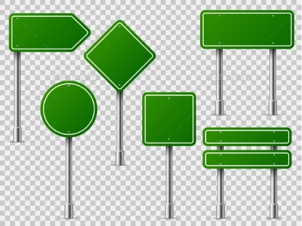 Green Traffic Signs - Miscellaneous Vectors