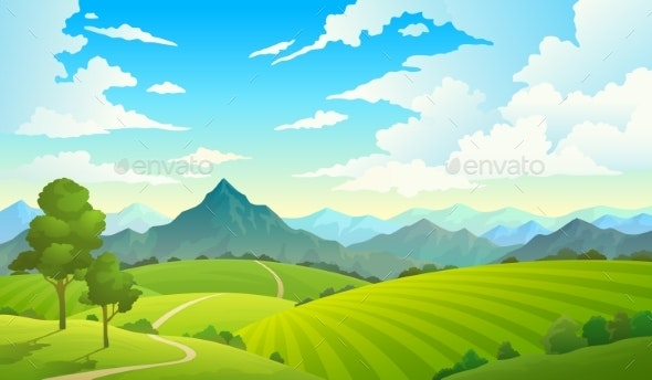 Meadows with Mountains - Landscapes Nature