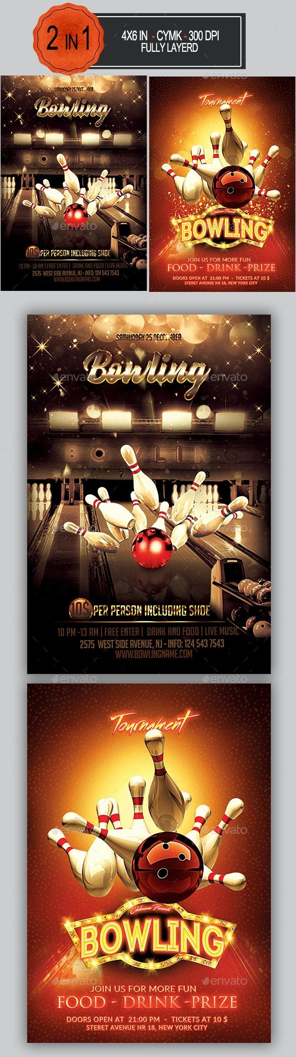 Bowling Flyer Bundle - Sports Events