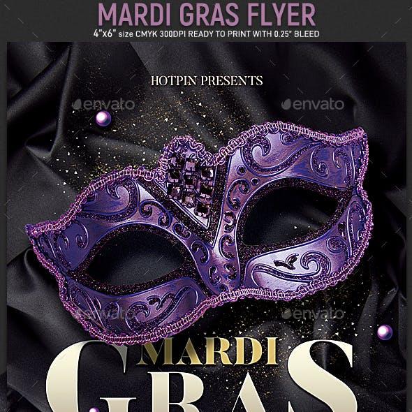 Mardi Gras Flyer Invitation