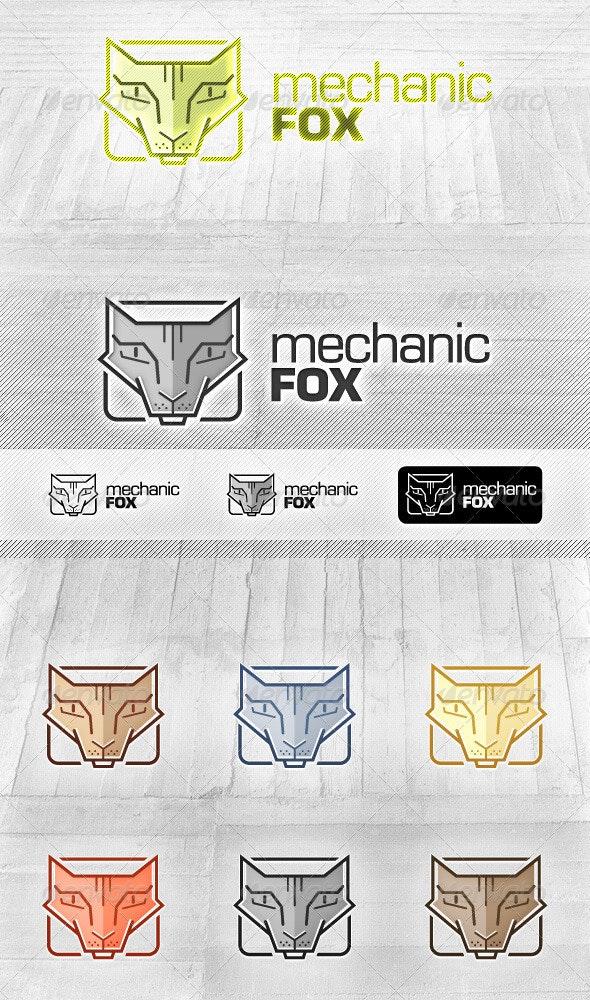 Mechanic Fox - Modern Logo - Animals Logo Templates
