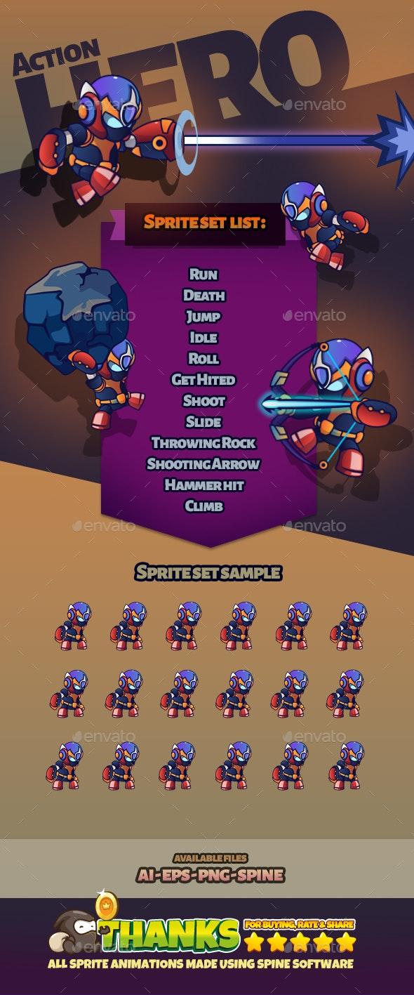 Character Set V24 - Sprites Game Assets
