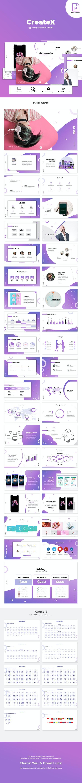 CreateX - Startup App PowerPoint Template - Creative PowerPoint Templates
