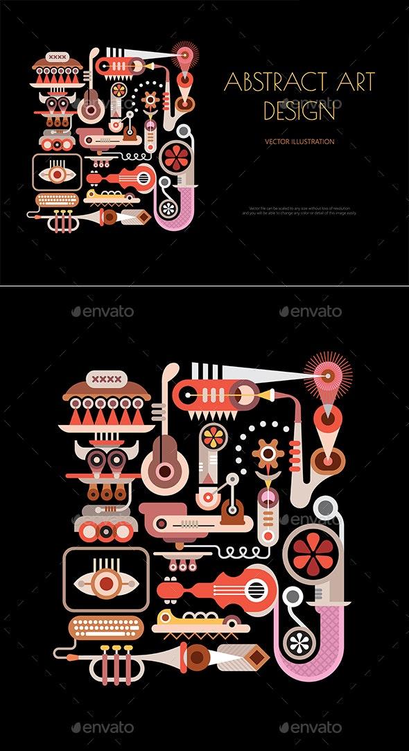 Musical Theme Abstract Art Design - Abstract Conceptual