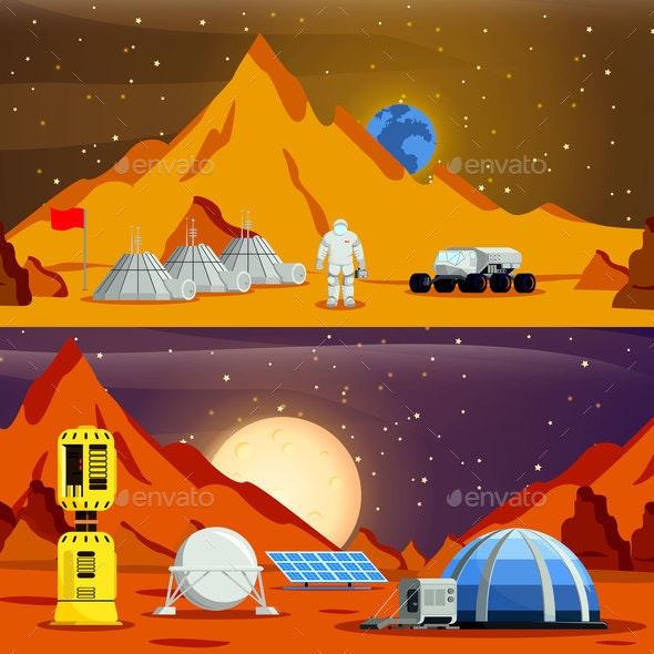 Planet Colonization Flat Compositions - Communications Technology