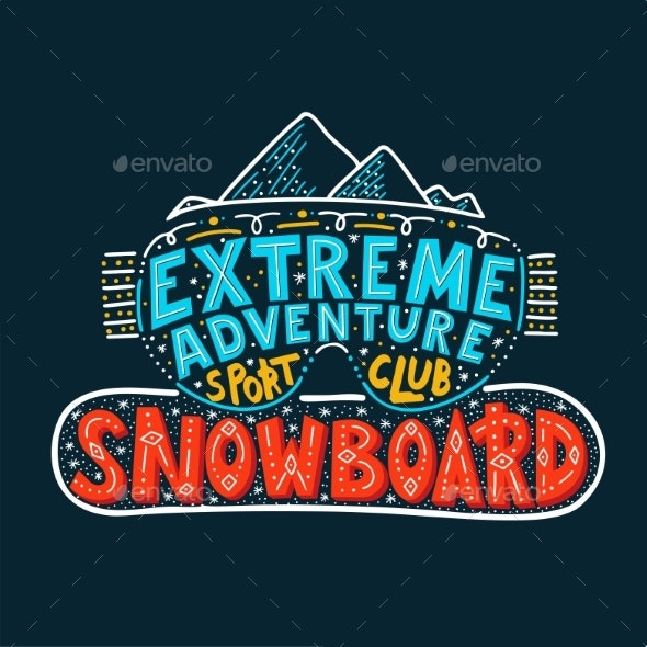 Snowboard Club Poster - Miscellaneous Vectors
