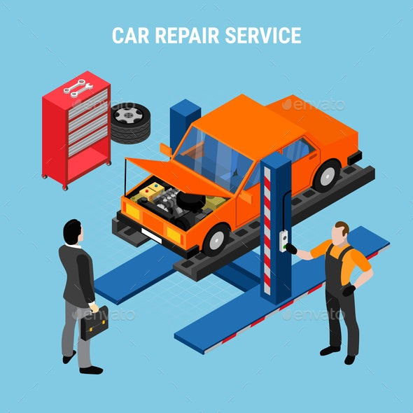 Car Service Concept - Services Commercial / Shopping