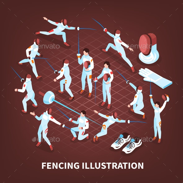 Sword Play Sports Background - Sports/Activity Conceptual