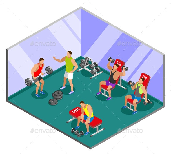 Weight Lifting Training Isometric Composition - Sports/Activity Conceptual