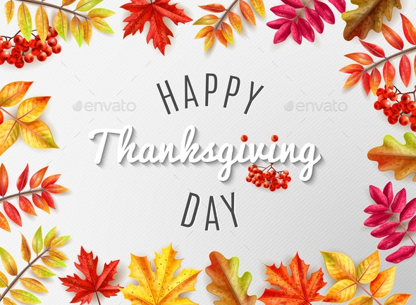 Thanksgiving Day Card - Backgrounds Decorative
