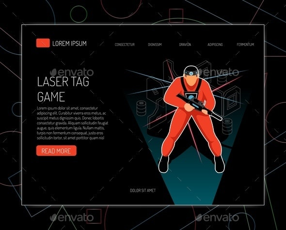 Laser Tag Isometric Design - Sports/Activity Conceptual