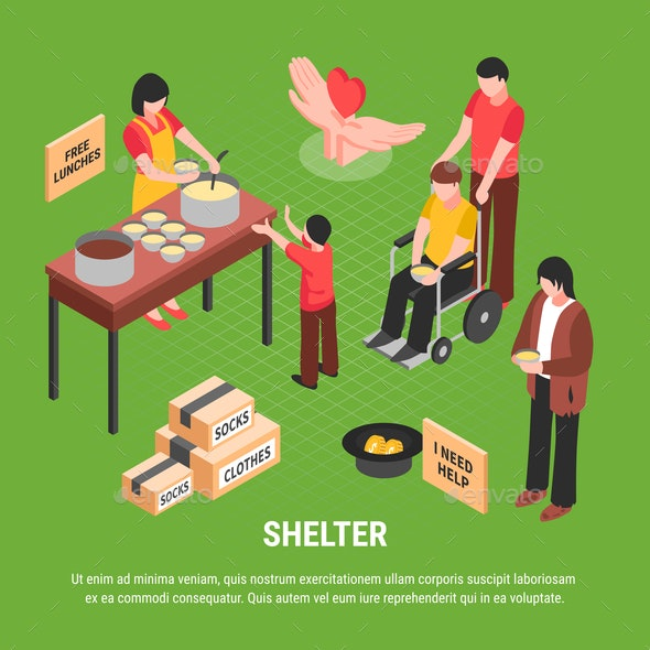 Shelter Isometric Poster - Food Objects