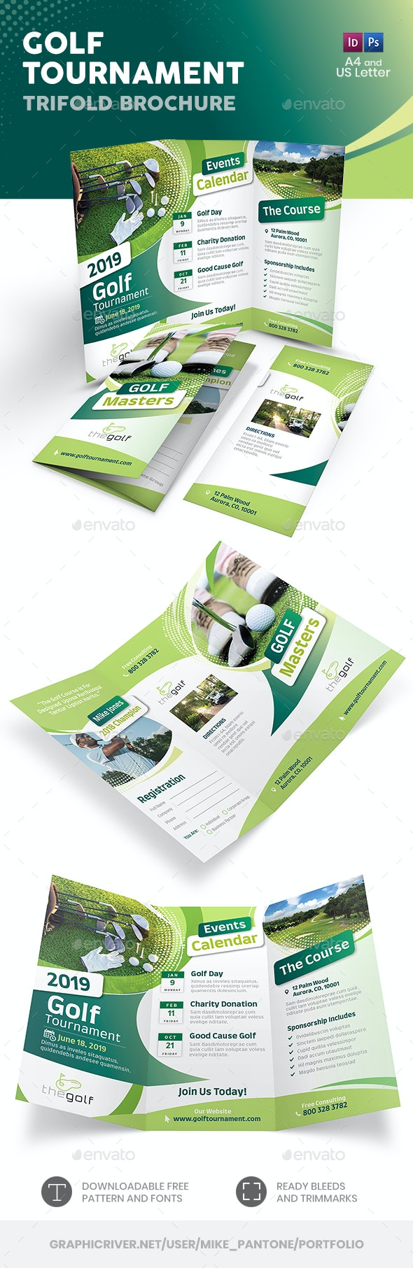 Golf Tournament 2019 Trifold Brochure - Informational Brochures