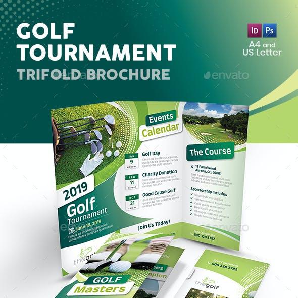 Golf Tournament 2019 Trifold Brochure