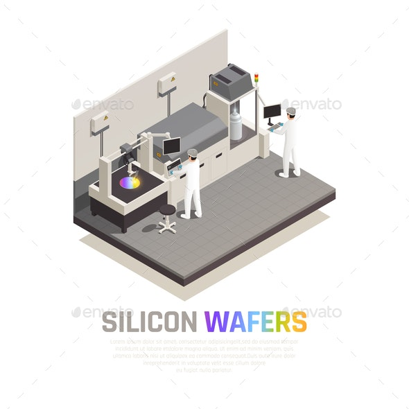 Silicon Chip Production Background - Industries Business