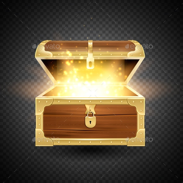 Shining Chest Transparent Composition - Miscellaneous Vectors