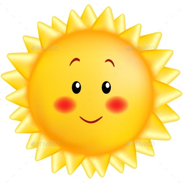 Smiling Sun Cartoon