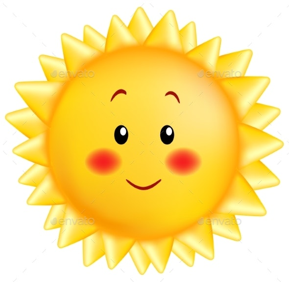 Smiling Sun Cartoon - Miscellaneous Vectors