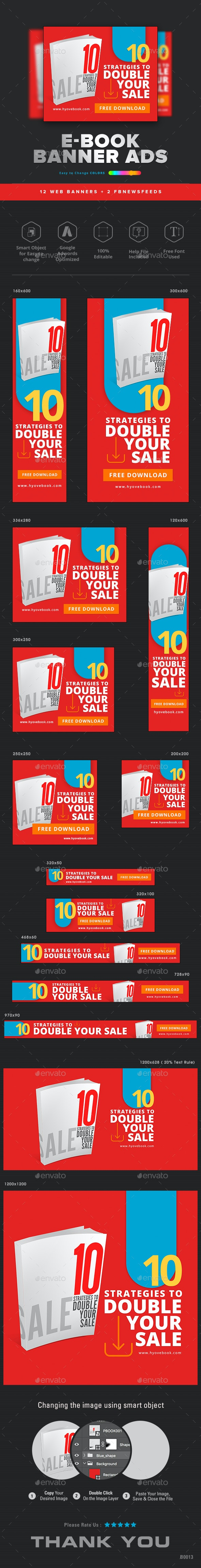 Ebook Web Banner Set - Banners & Ads Web Elements