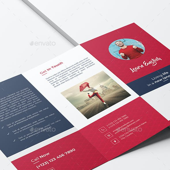 Learn Language Trifold Brochure