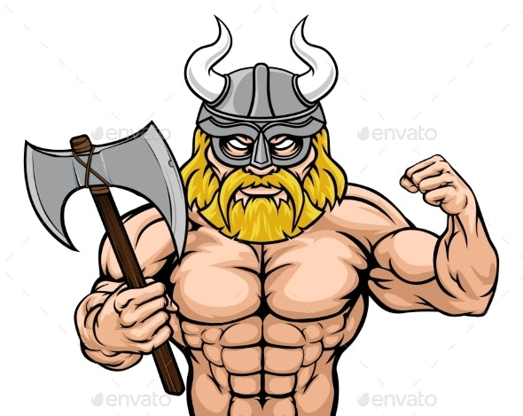 Viking Cartoon Sports Mascot - Sports/Activity Conceptual