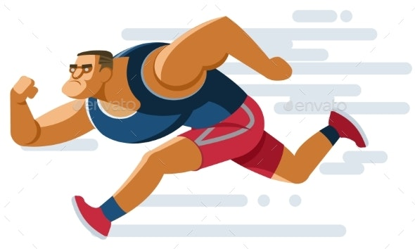 Sporty Runner Man - Sports/Activity Conceptual