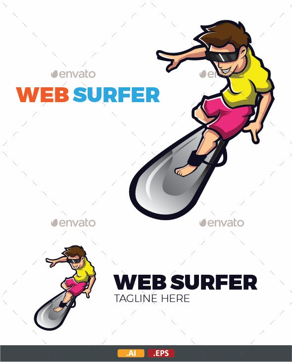 Web Surfer Vector - People Characters