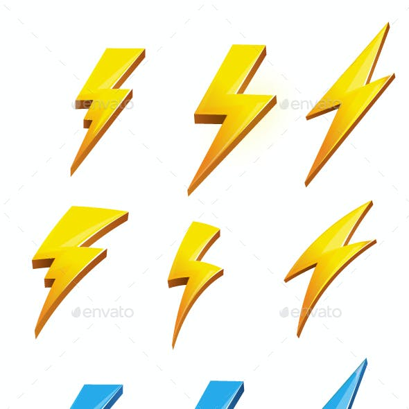 Lightening Bolt Set Illustration