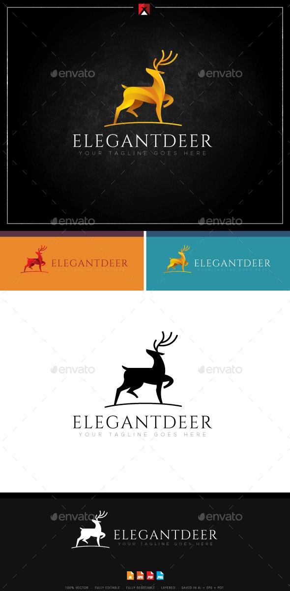 Elegant Deer Logo - Animals Logo Templates
